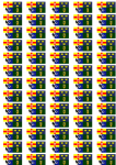 Ireland 4 Provinces Flag Stickers - 65 per sheet